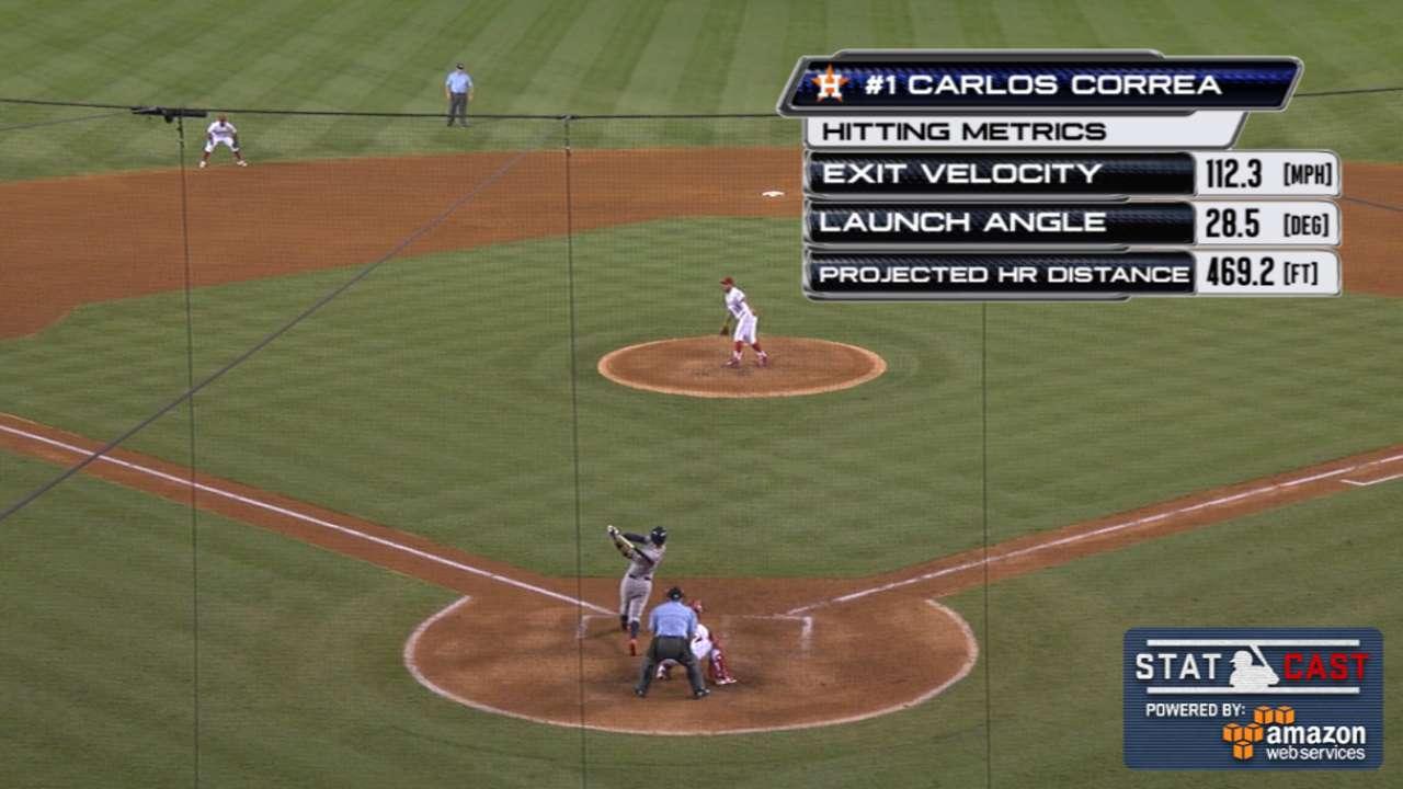 Statcast: Correa's gigantic shot
