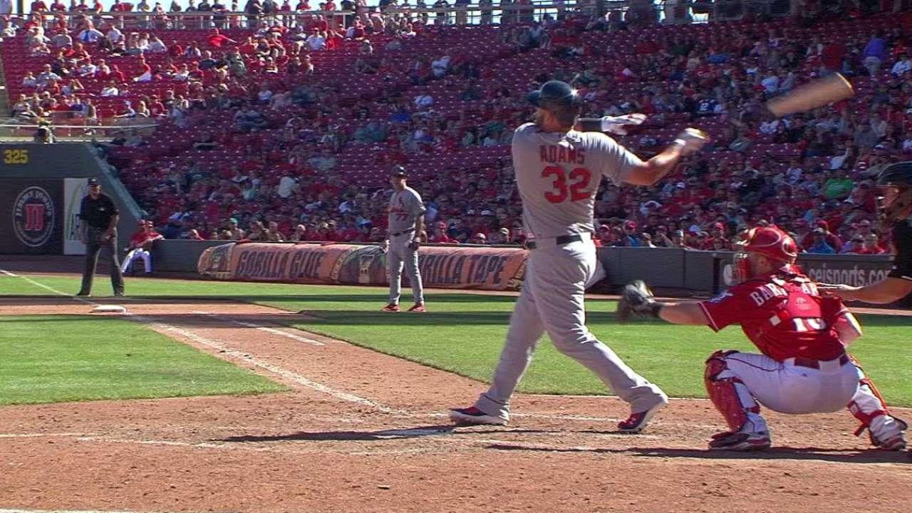 Adams' two-run homer