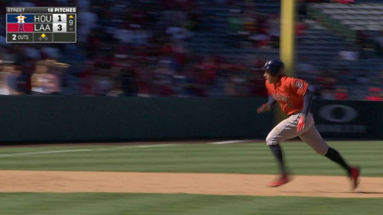 Springer's two-out triple