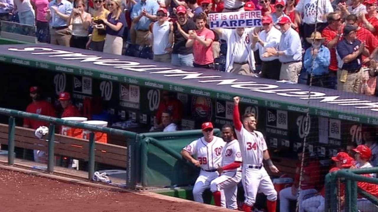 Harper, Scherzer nominated for Esurance MLB Awards