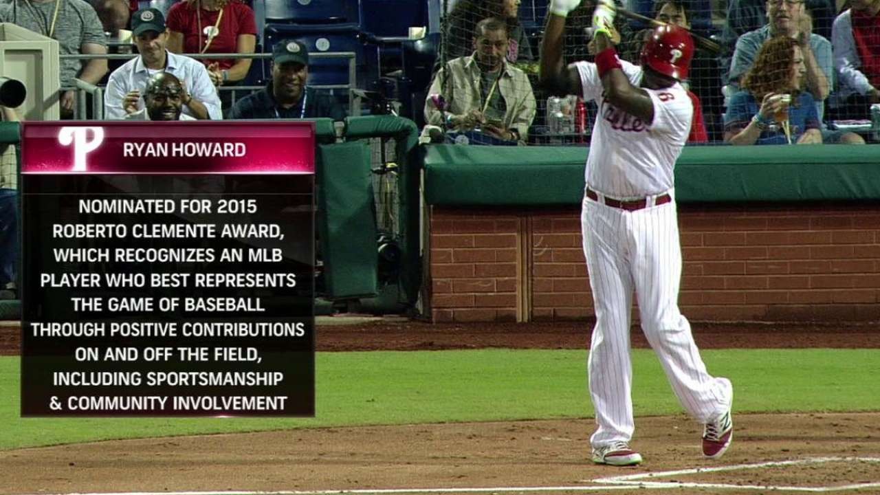 Howard nominated for Clemente Award