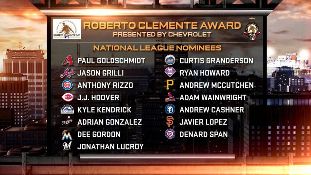 Mlb Announces Roberto Clemente Award Nominees Mlb Com