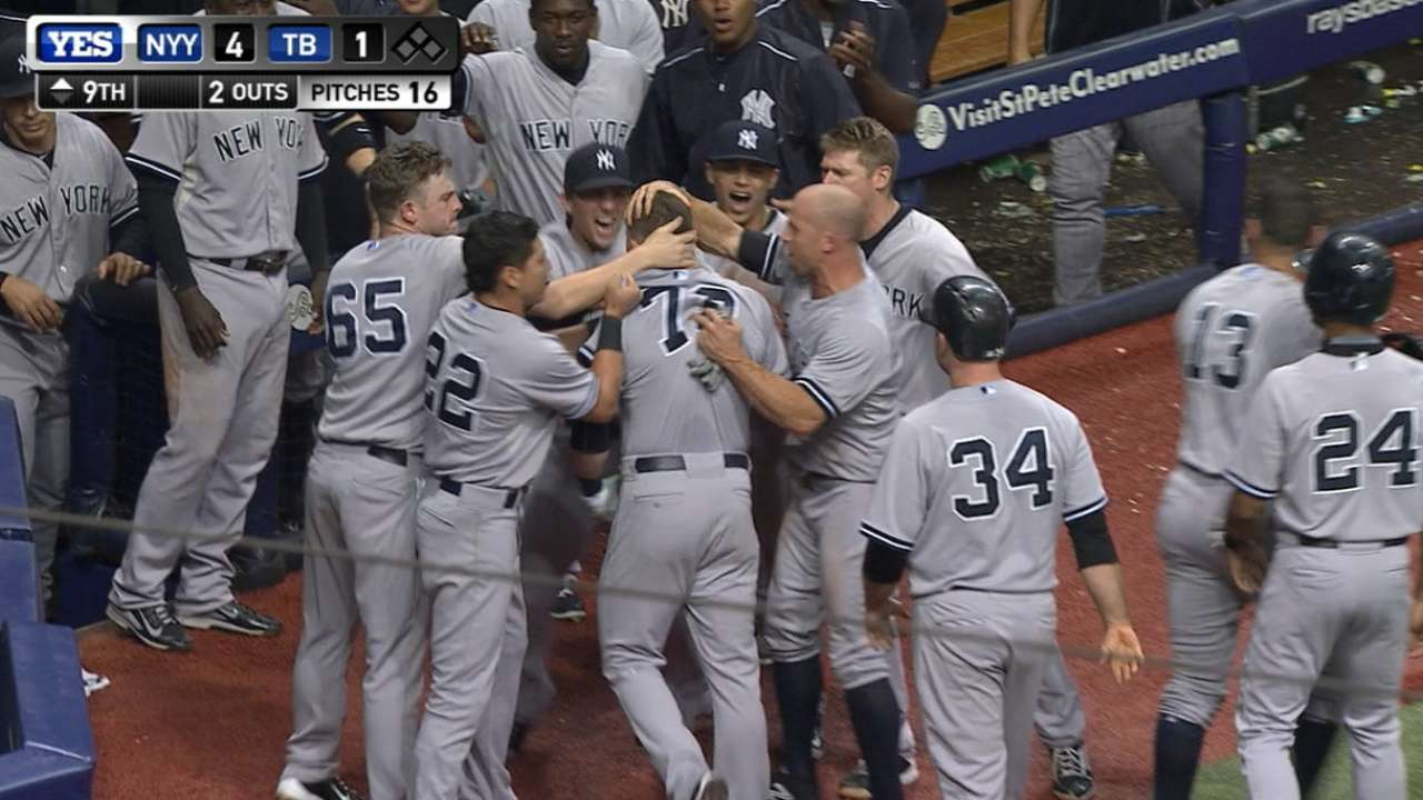 Heathcott fires up Yanks with huge home run