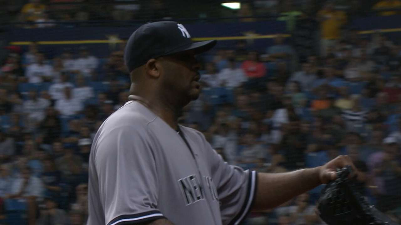 Sabathia's scoreless outing