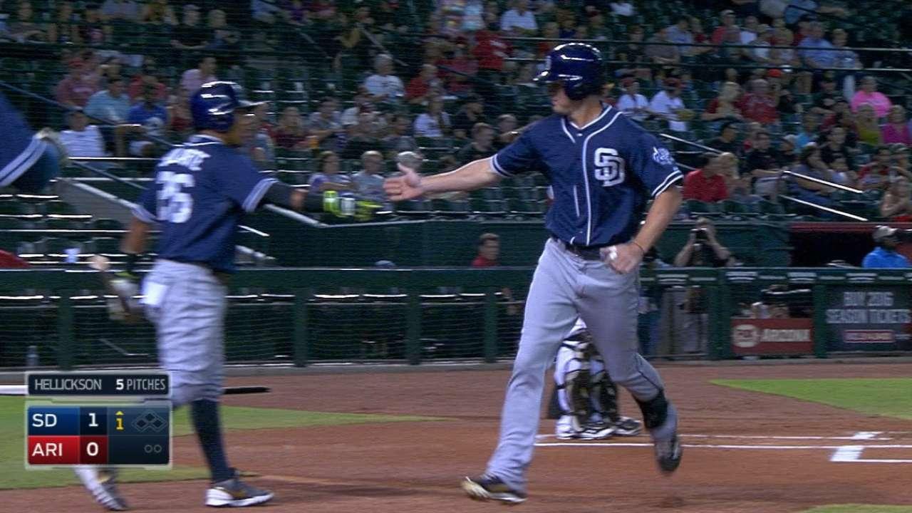 Padres' five-run 1st inning