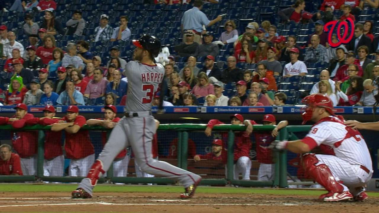 Nats club four homers in win
