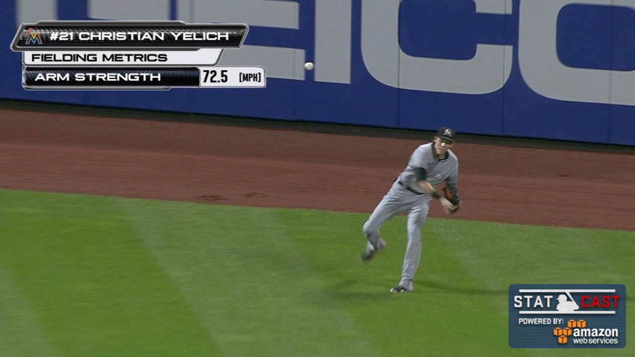 Statcast: Yelich nabs Lagares