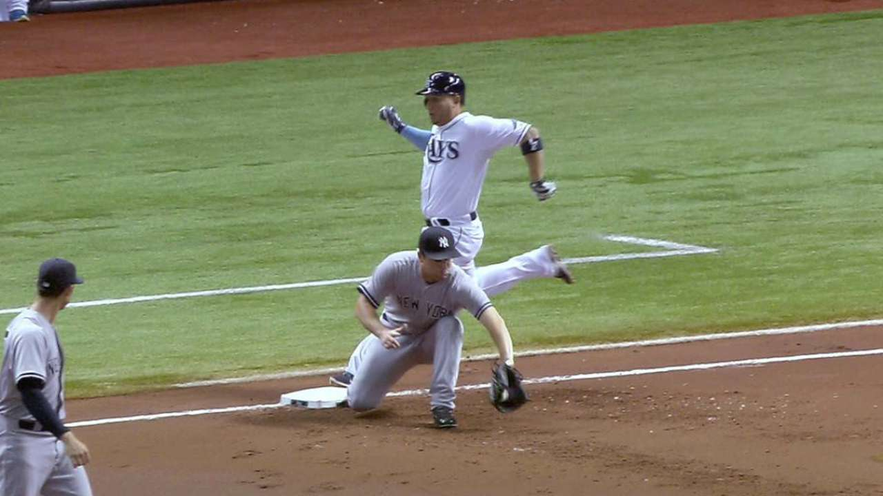 Yankees' DP stands on review