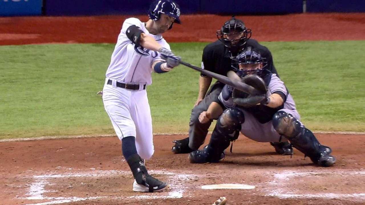 Con HR de Franklin, Rays se imponen a los Yankees en T.B.