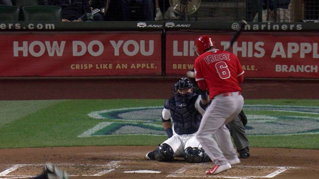 Freese gets hit, benches warned