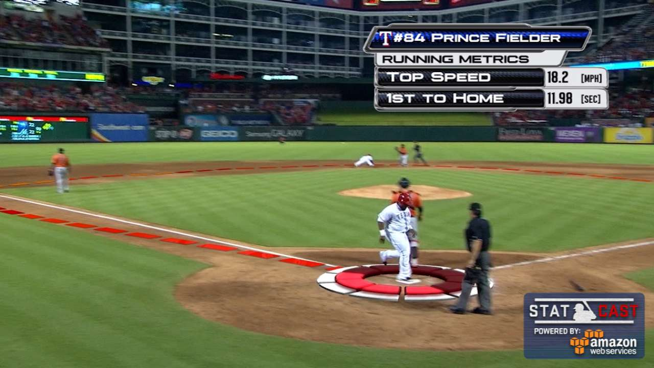 Statcast: Prince dashes home