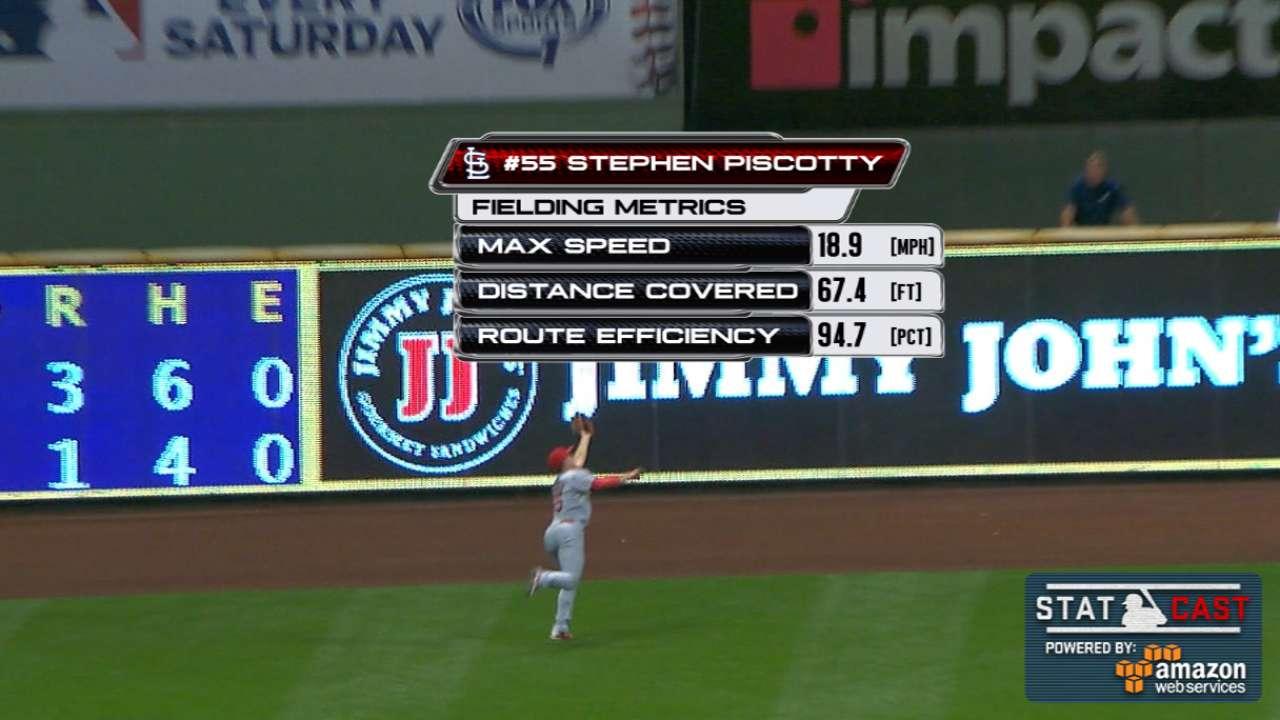 Statcast: Piscotty's great catch