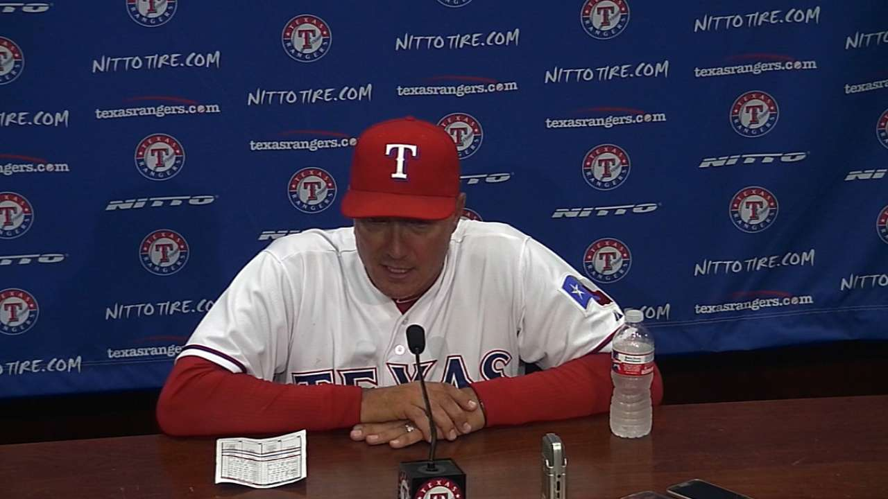 Work has just begun for first-place Rangers