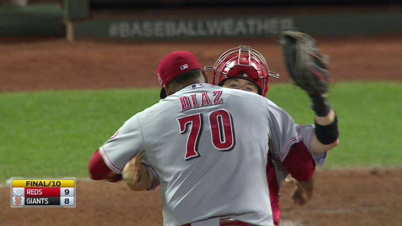 Diaz relishes chance for first big league save