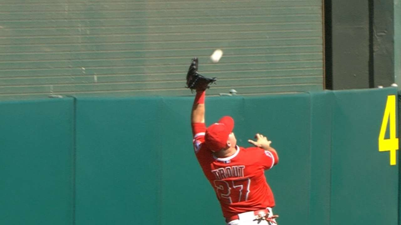 High-flying Trout makes habit of robbing HRs