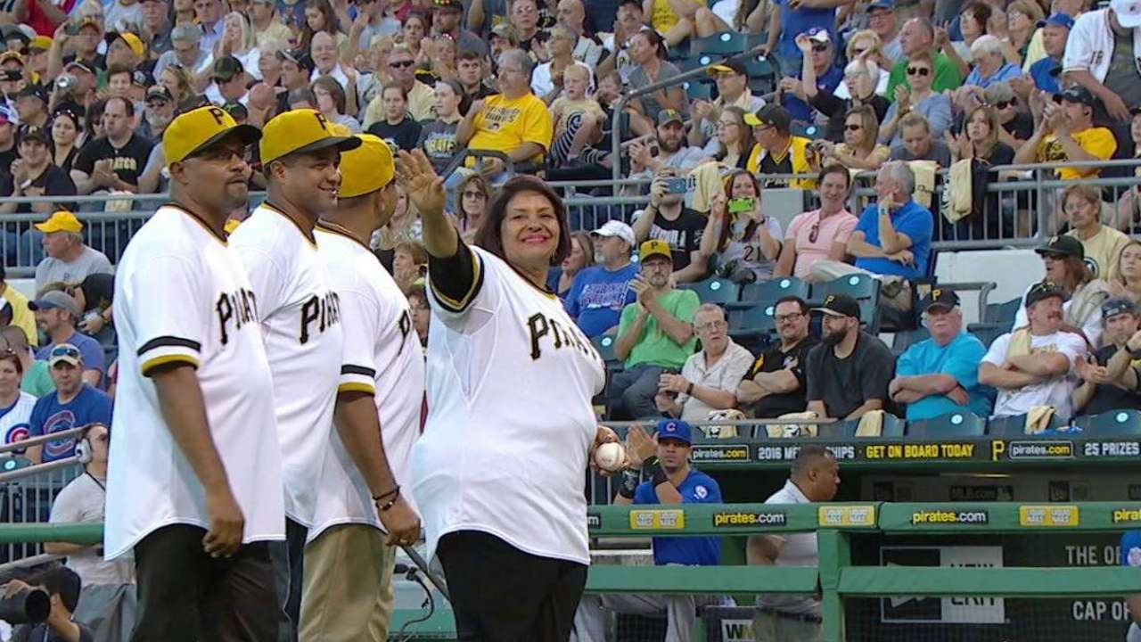 Vera Clemente's first pitch