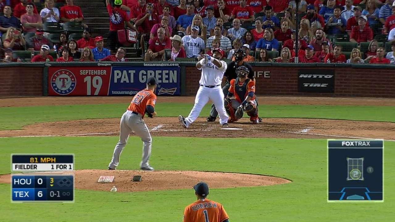 Fielder's long solo home run