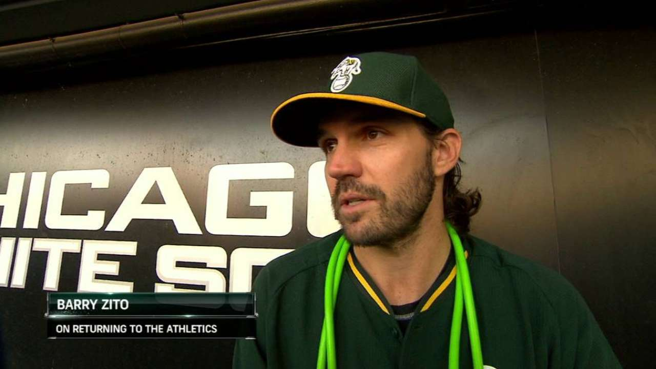 Zito joins A's for final big league stint