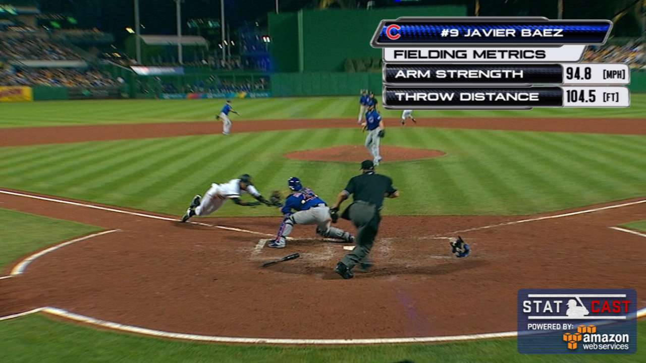 Statcast: Baez's laser throw