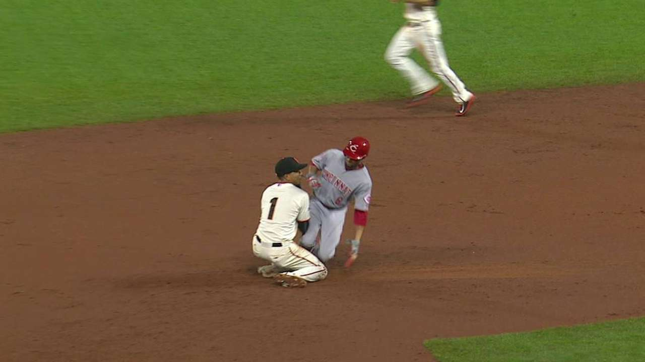 Hamilton ruled safe at second
