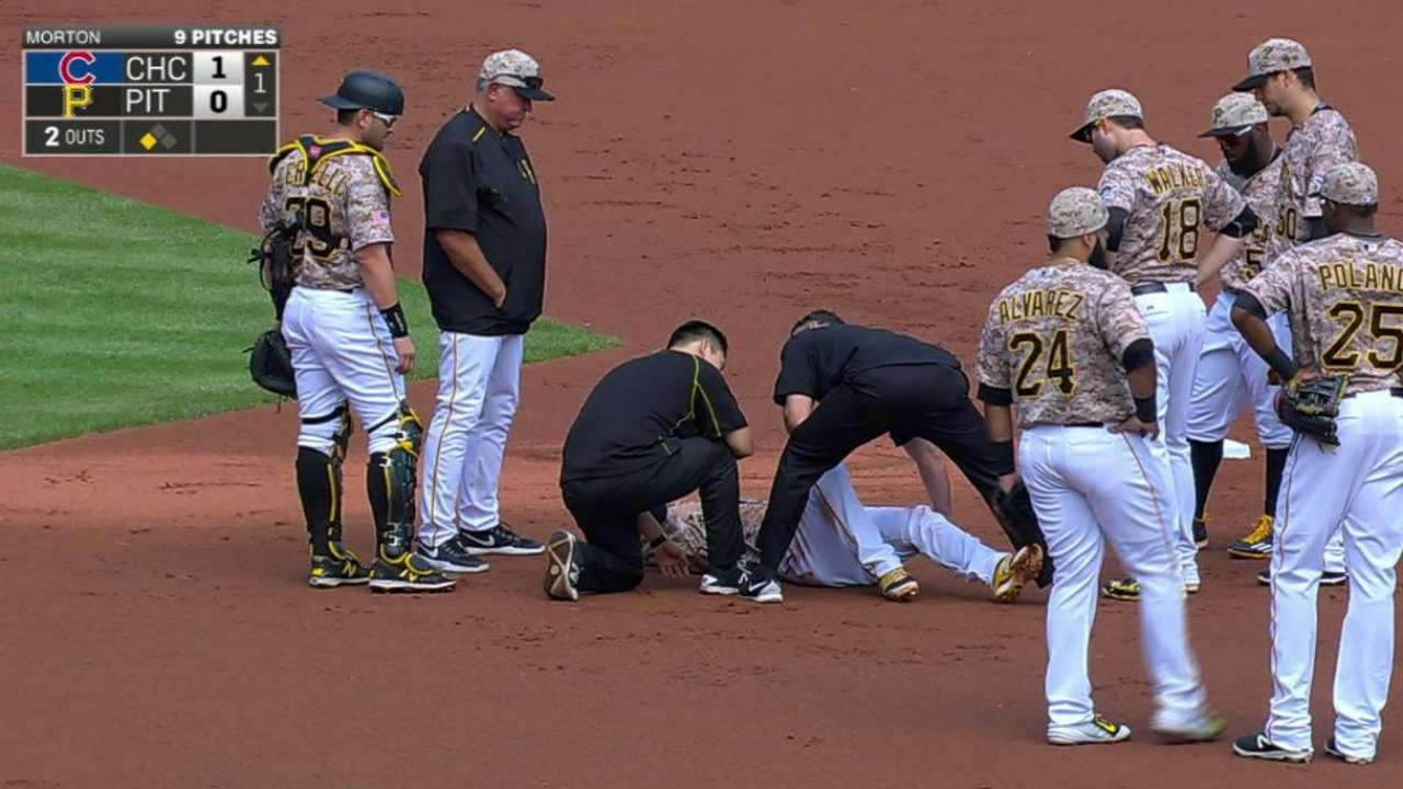 Kang injured on double play
