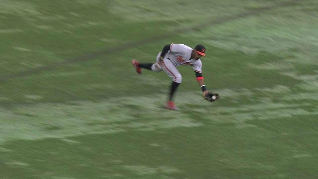 Jones' run-saving catch