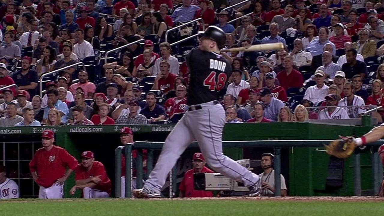 Bour's three-run homer