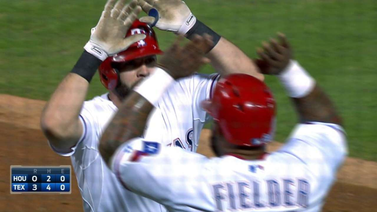 Moreland's three-run homer