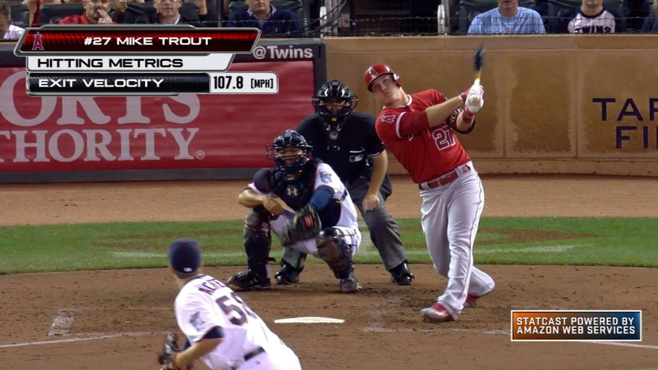 Statcast: Trout's grand slam