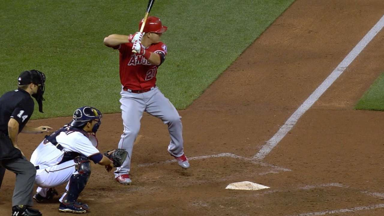 Trout reels Angels in closer to Wild Card spot