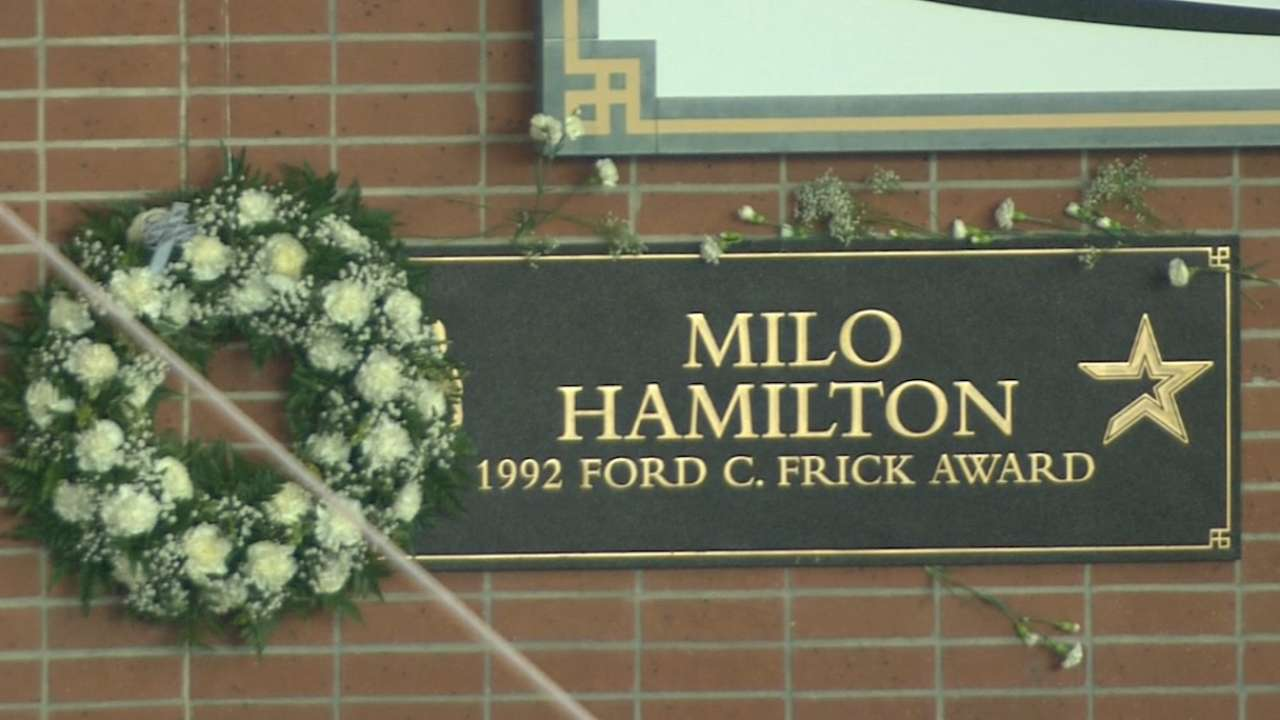 Astros remember Milo Hamilton