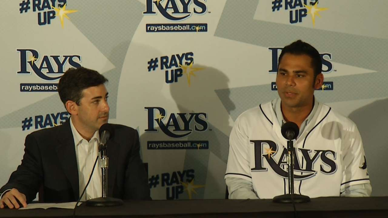 Pena thankful to retire a Ray