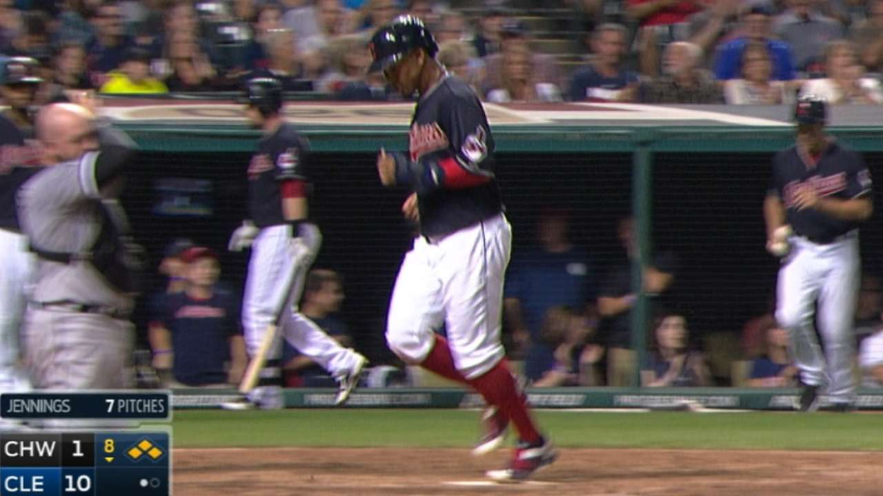 Indians' five-run inning