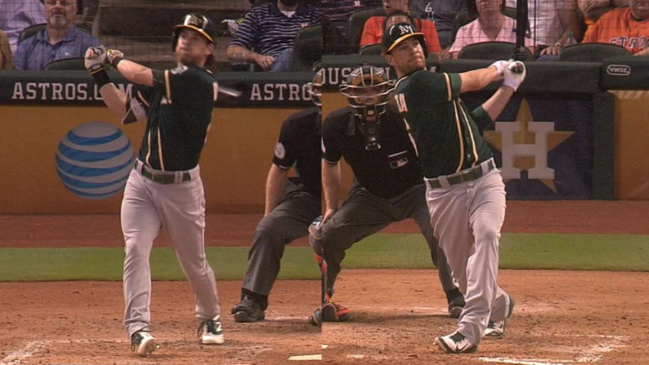 A's go back-to-back in the 4th