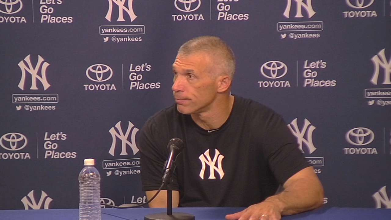 No DH creates tough call for Girardi on Tanaka