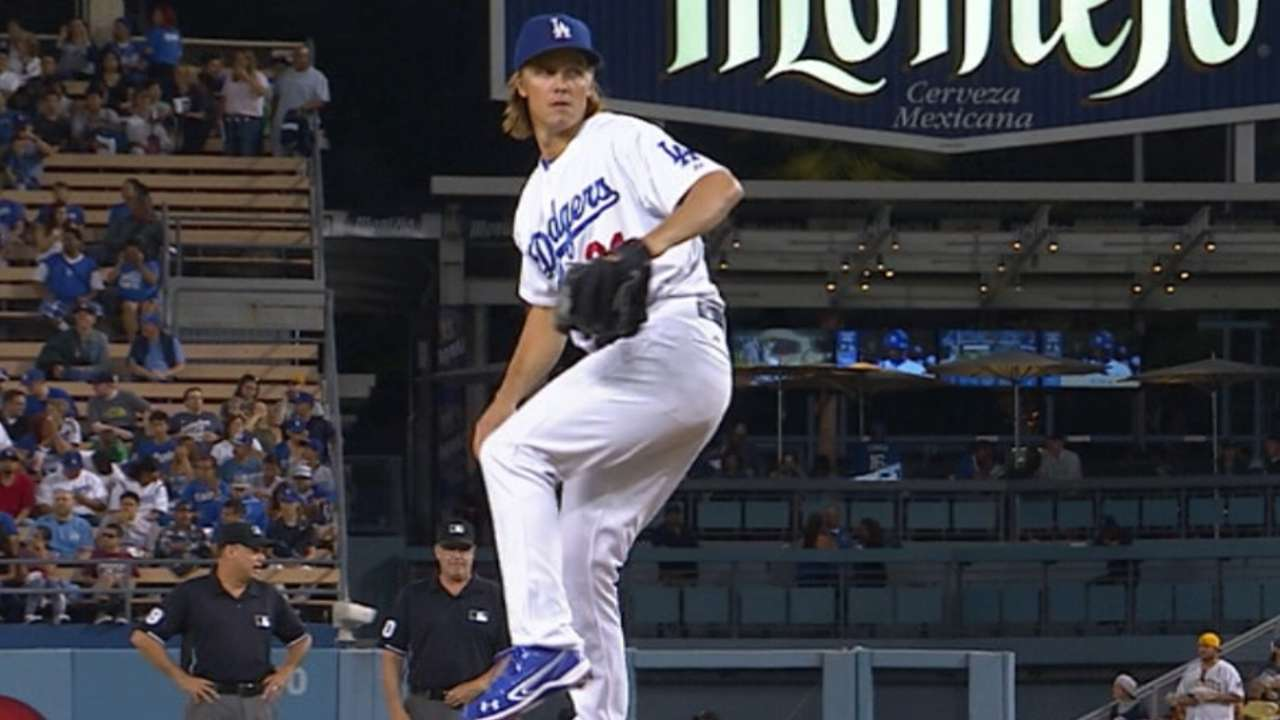 Greinke stumps Bucs; LA magic number at 8
