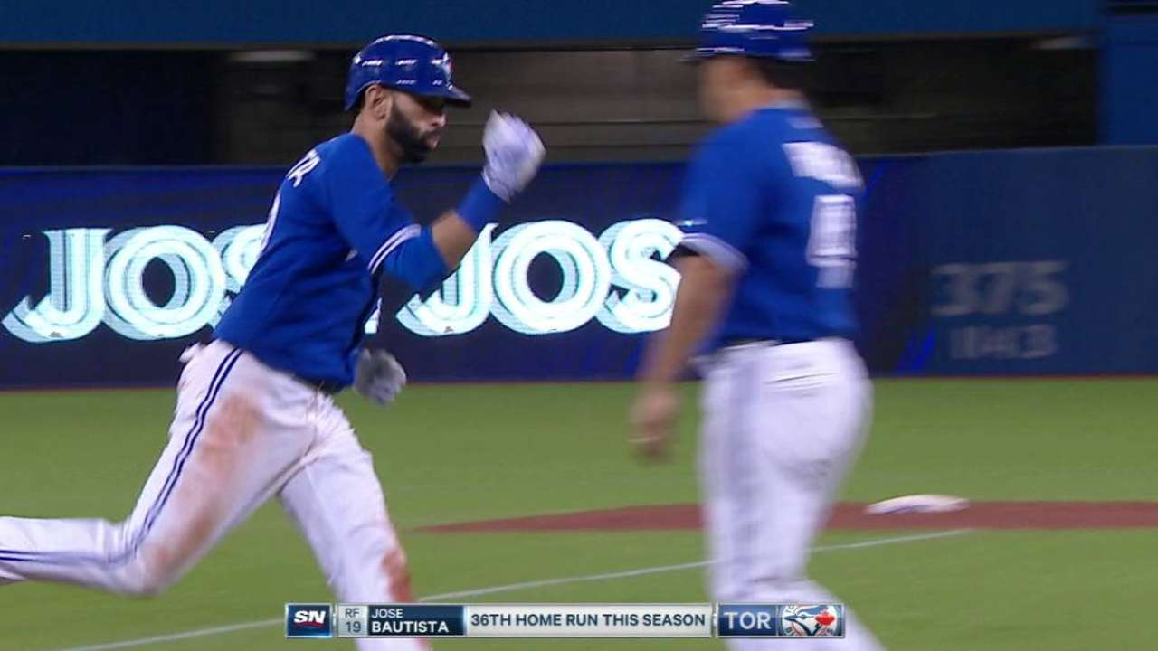 Bautista's two-run shot