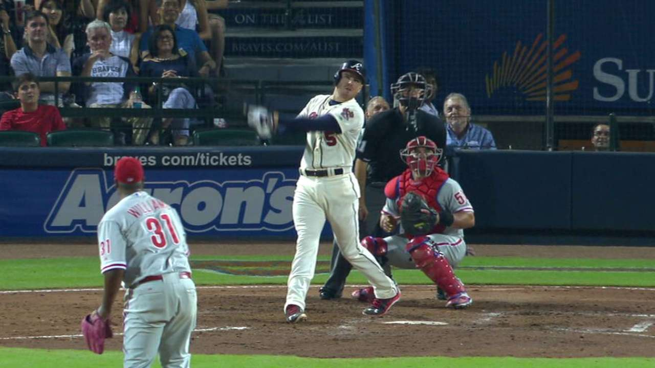Freeman's double leads Braves over Phillies