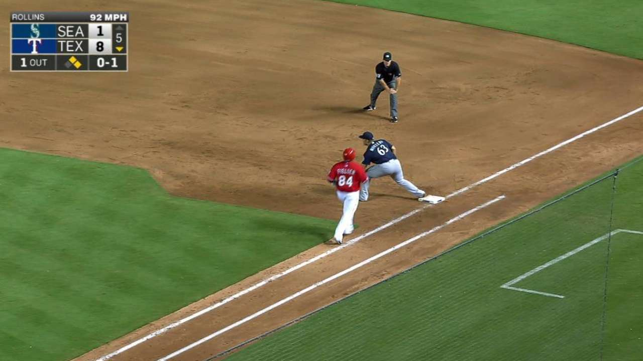 Mariners' Rollins finishing strong in AFL