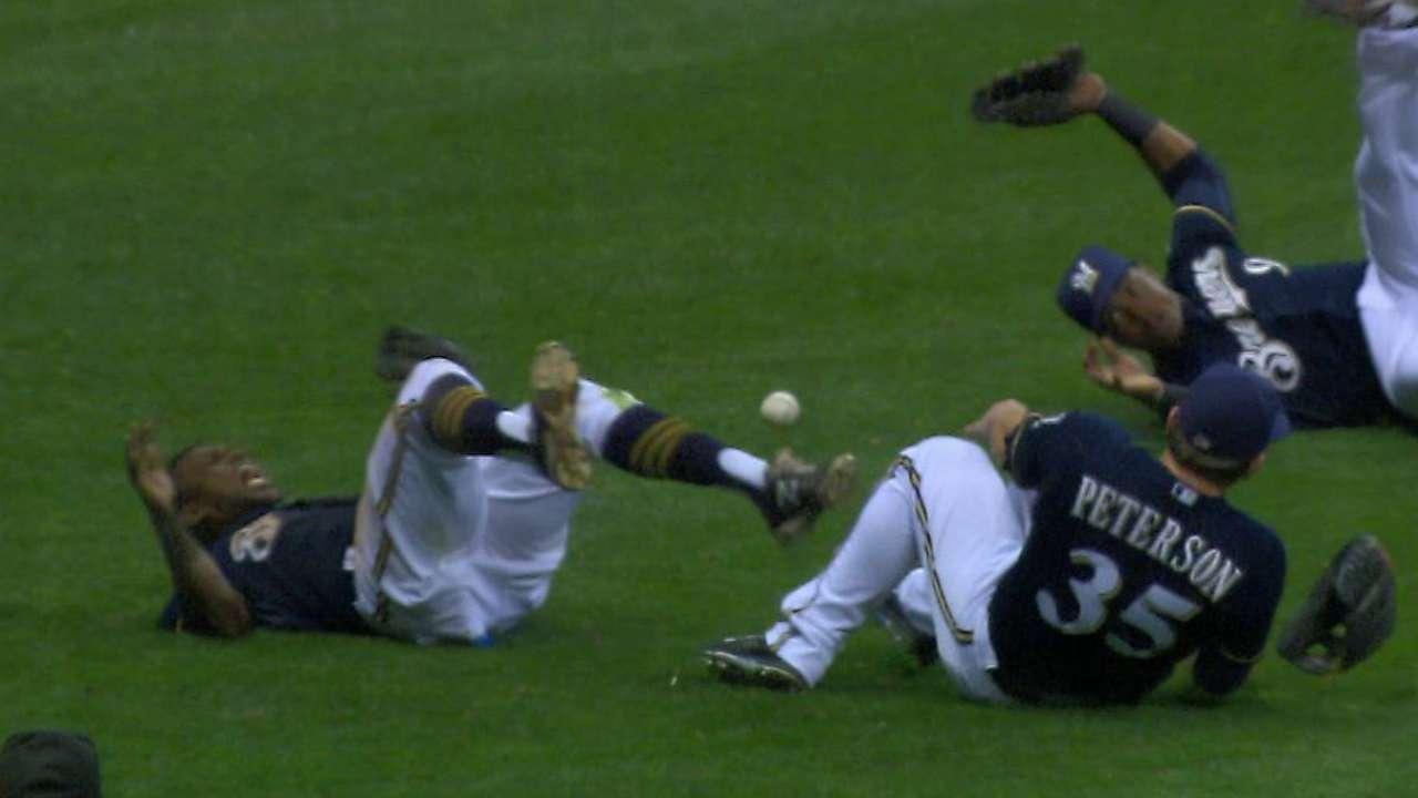 Herrera avoids major injury on nasty collision