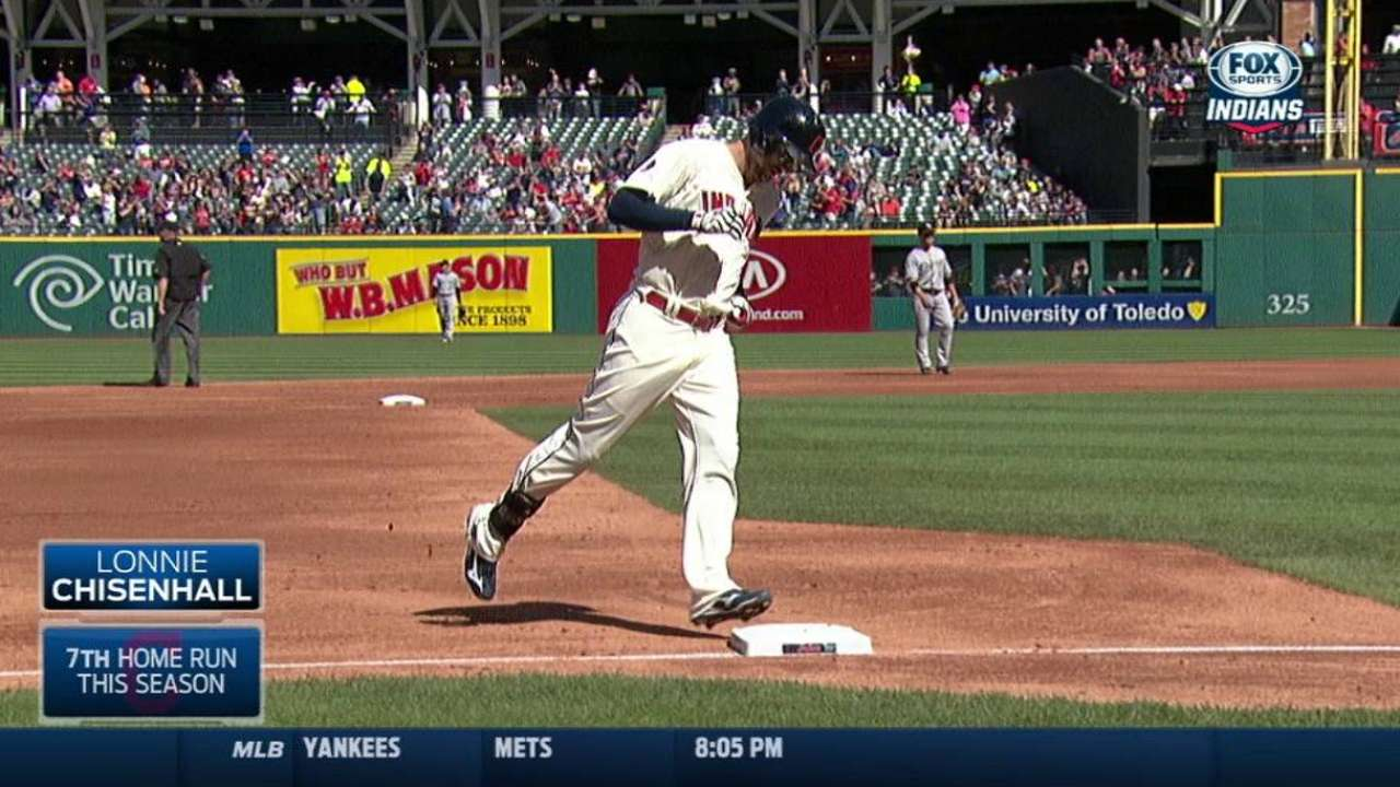 Chisenhall answers call vs. lefty in finale