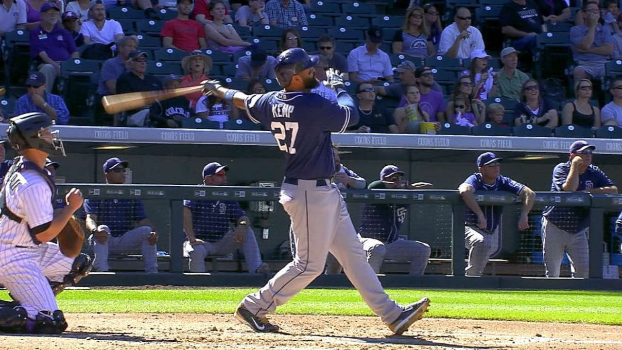 Padres belt four homers to power past Rockies