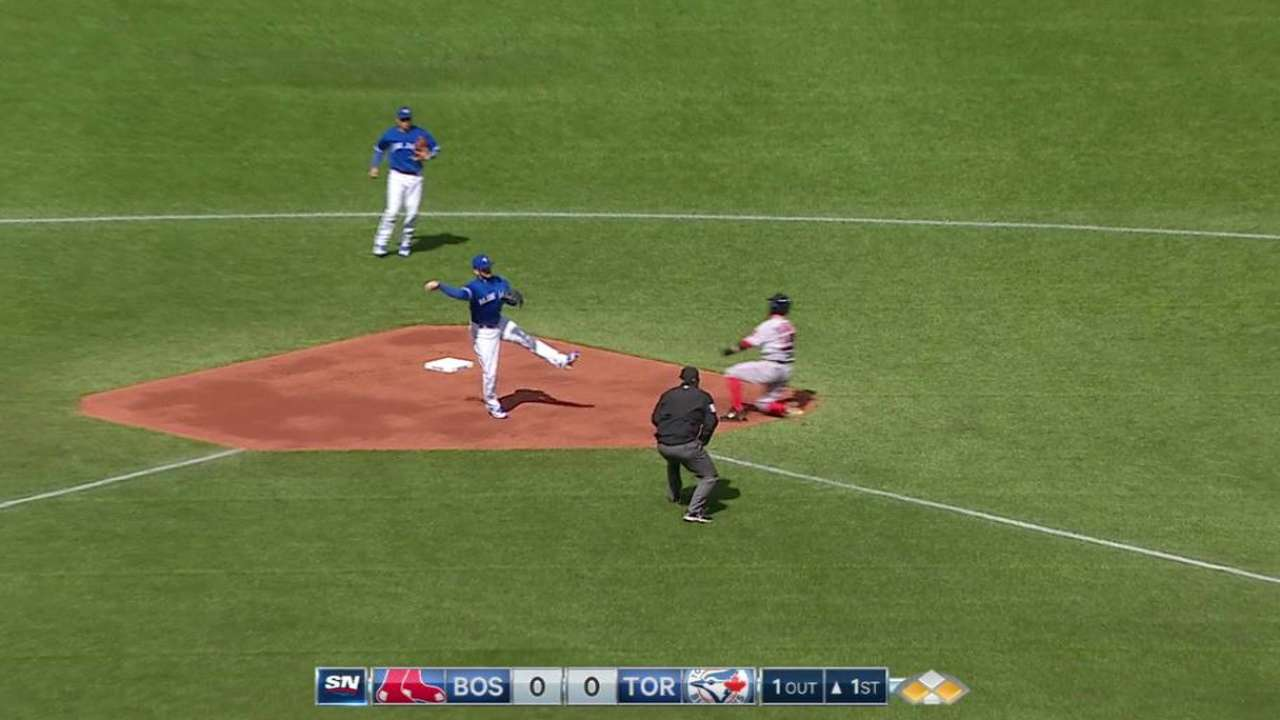 Blue Jays use shift to turn two