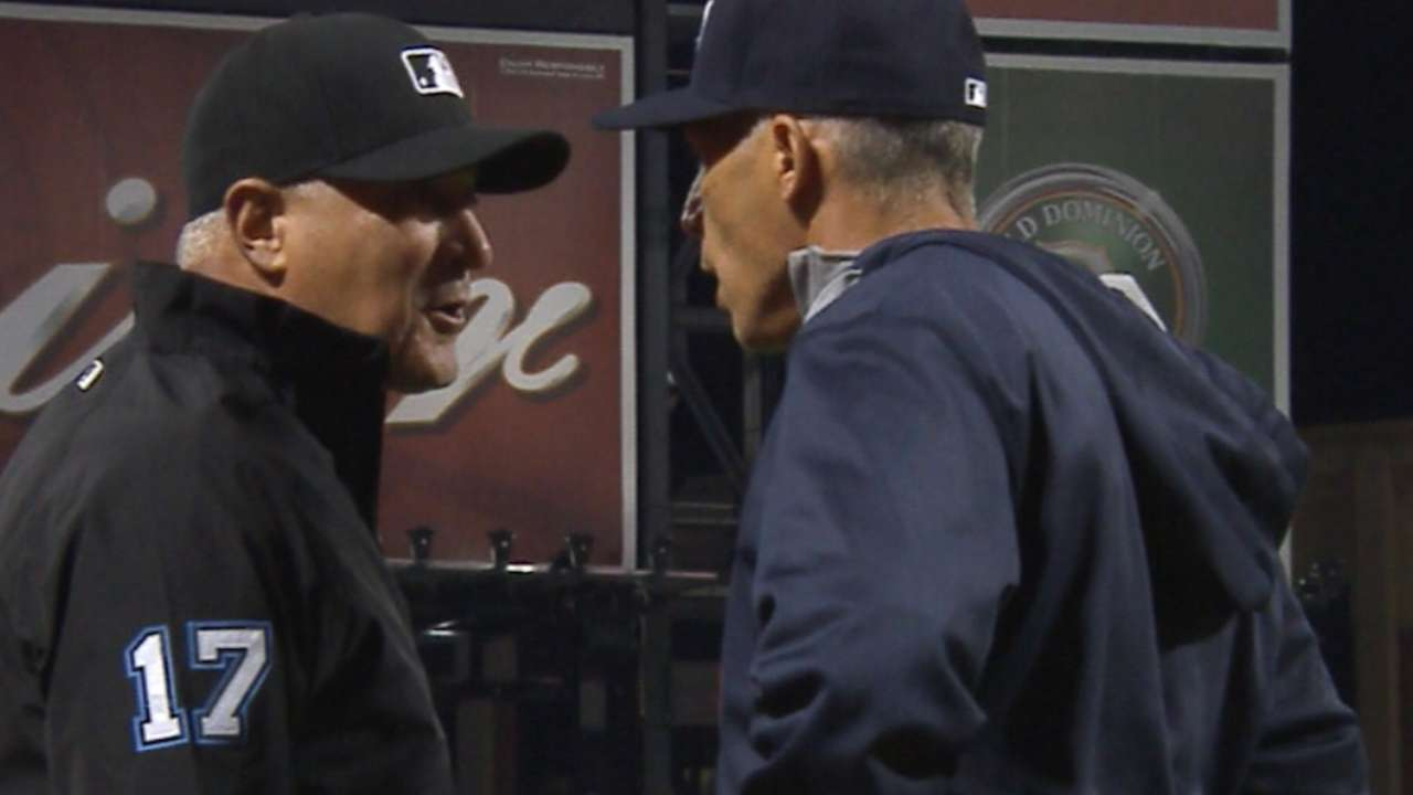 Girardi ejected after arguing