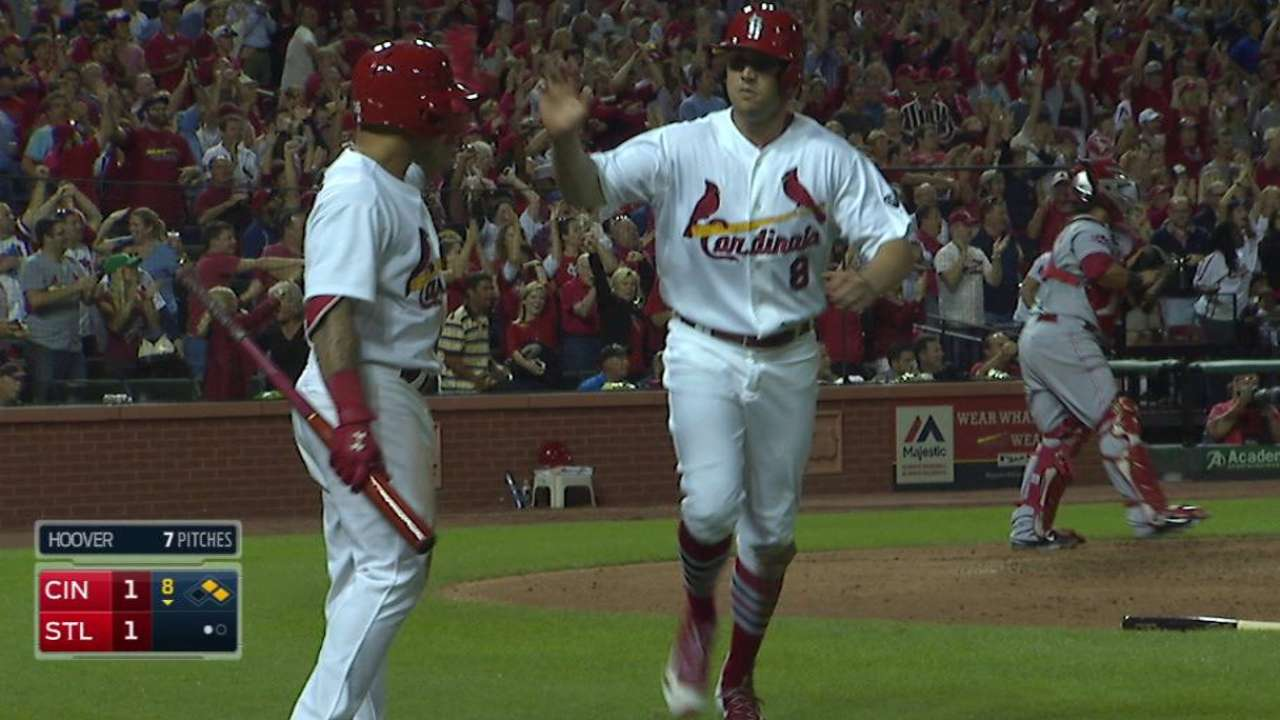 Cards rally vs. Reds, get magic number to 9
