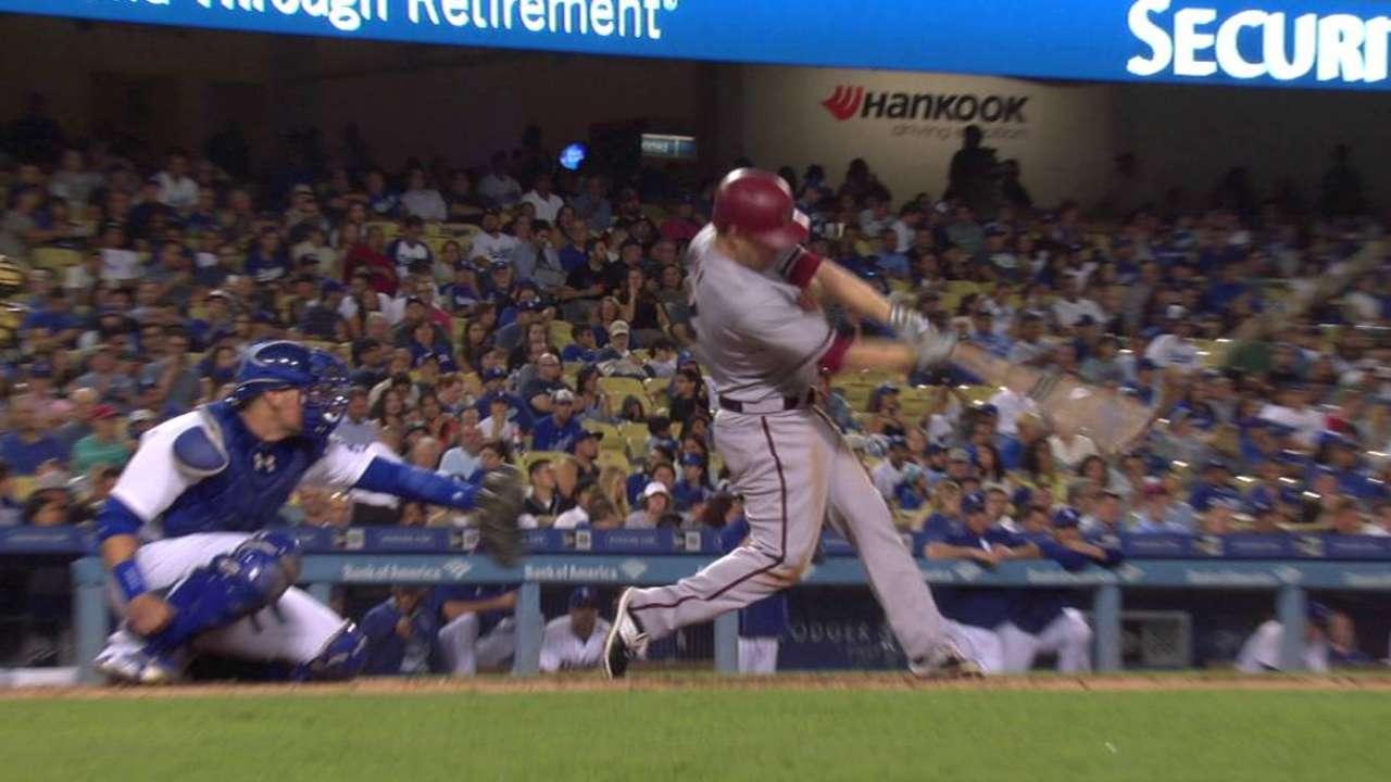 D-backs' three homers keep Dodgers at bay