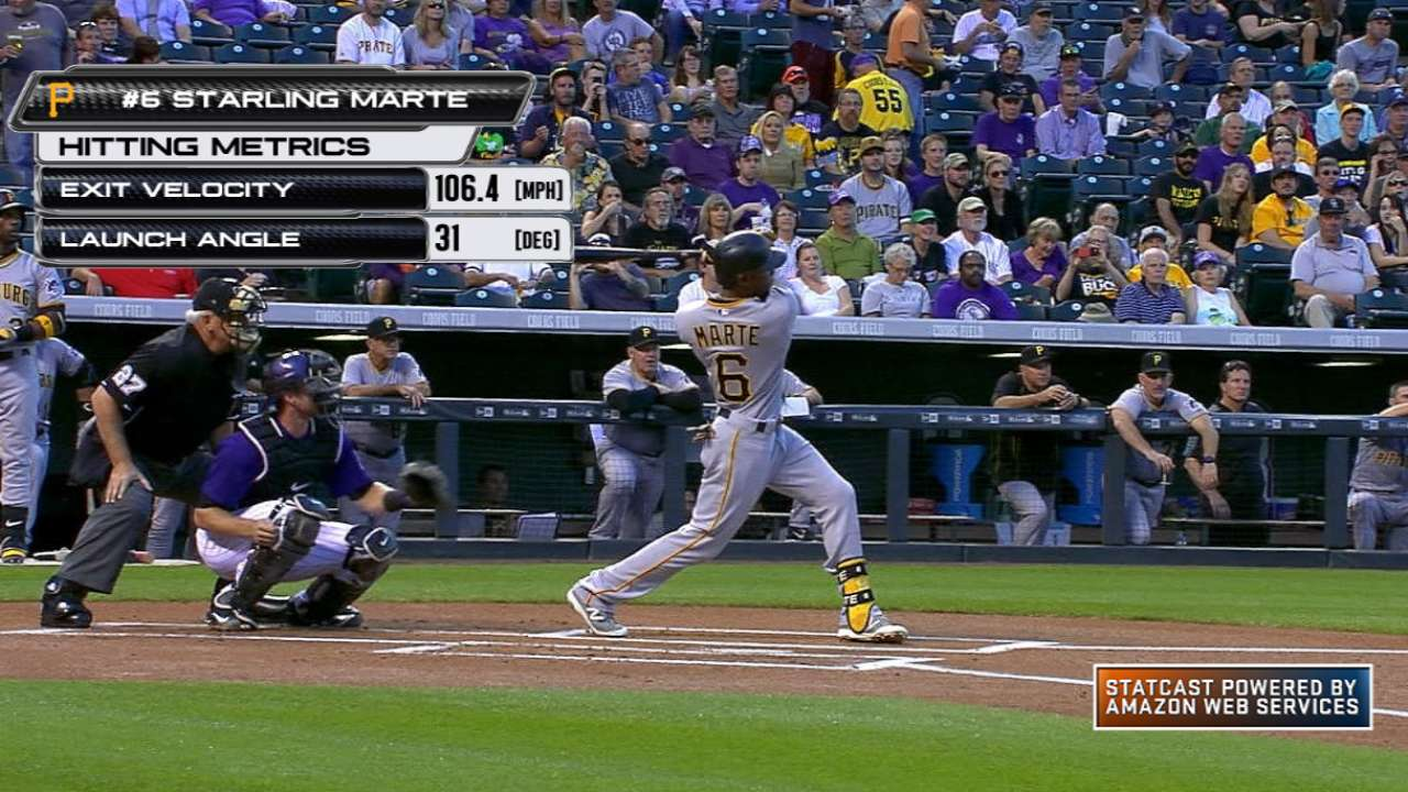 Statcast: Marte crushes home run