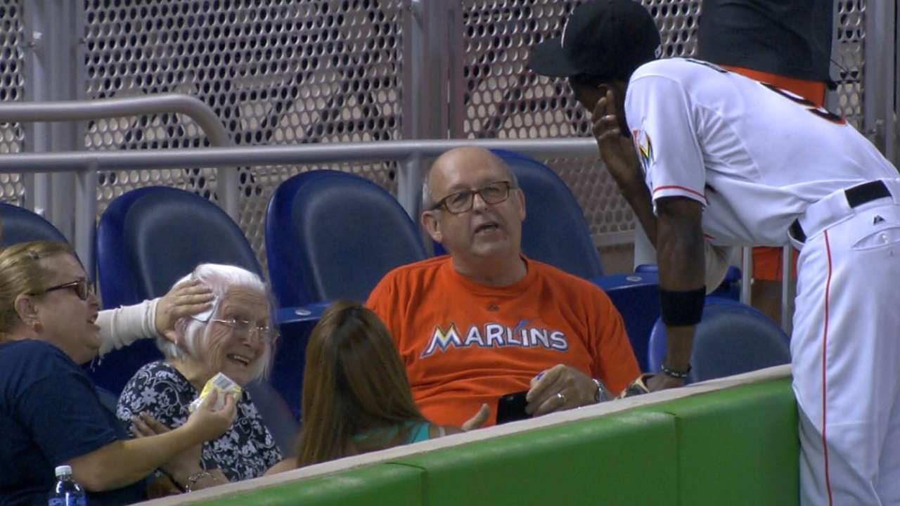 'Thoughtful' Gordon checks in on fan struck by ball