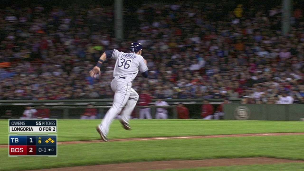 Two score on Longoria's sac fly