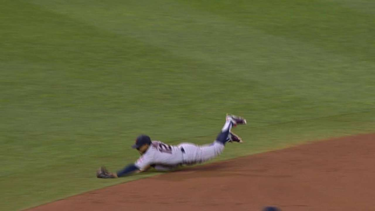 Lindor's diving stop